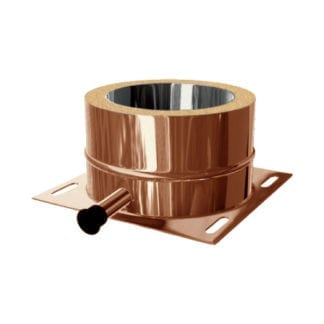 Kaminfuß universal Boden/Konsole KFT Kupfer